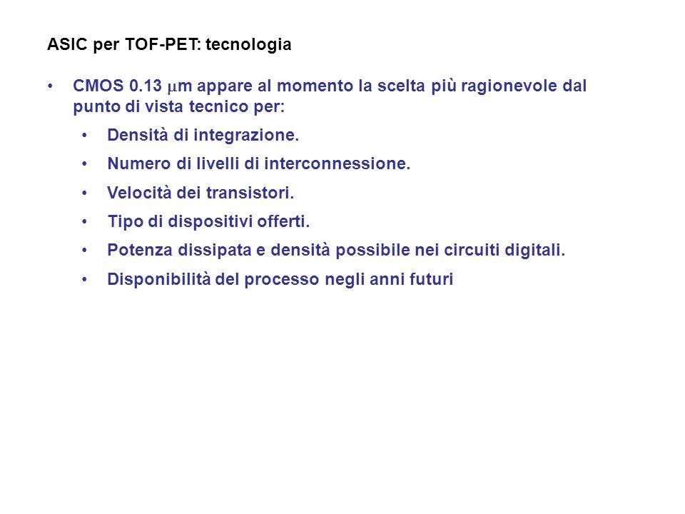 ASIC per TOF-PET: tecnologia