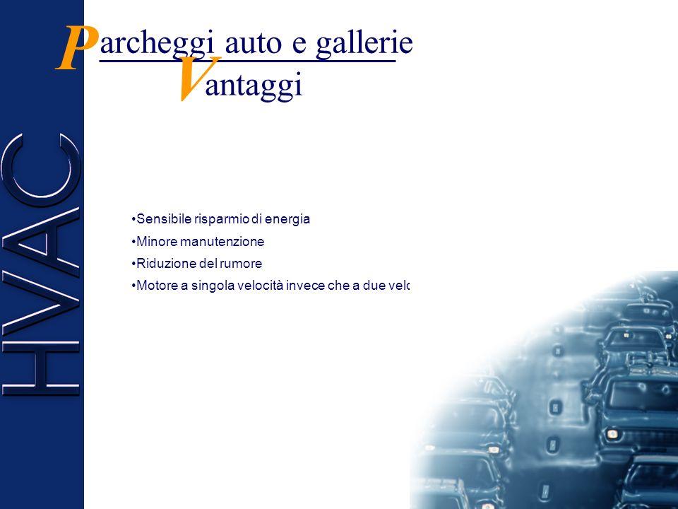 P V archeggi auto e gallerie antaggi Sensibile risparmio di energia