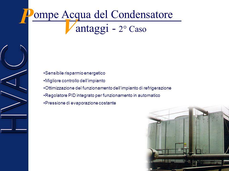 P V ompe Acqua del Condensatore antaggi - 2° Caso