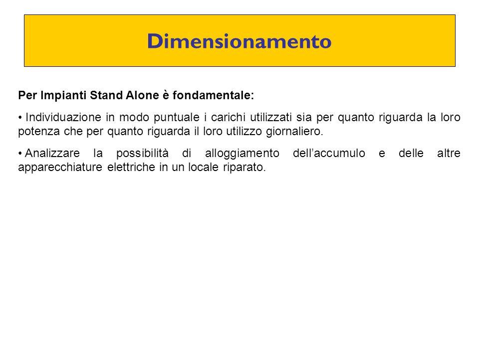Dimensionamento Per Impianti Stand Alone è fondamentale: