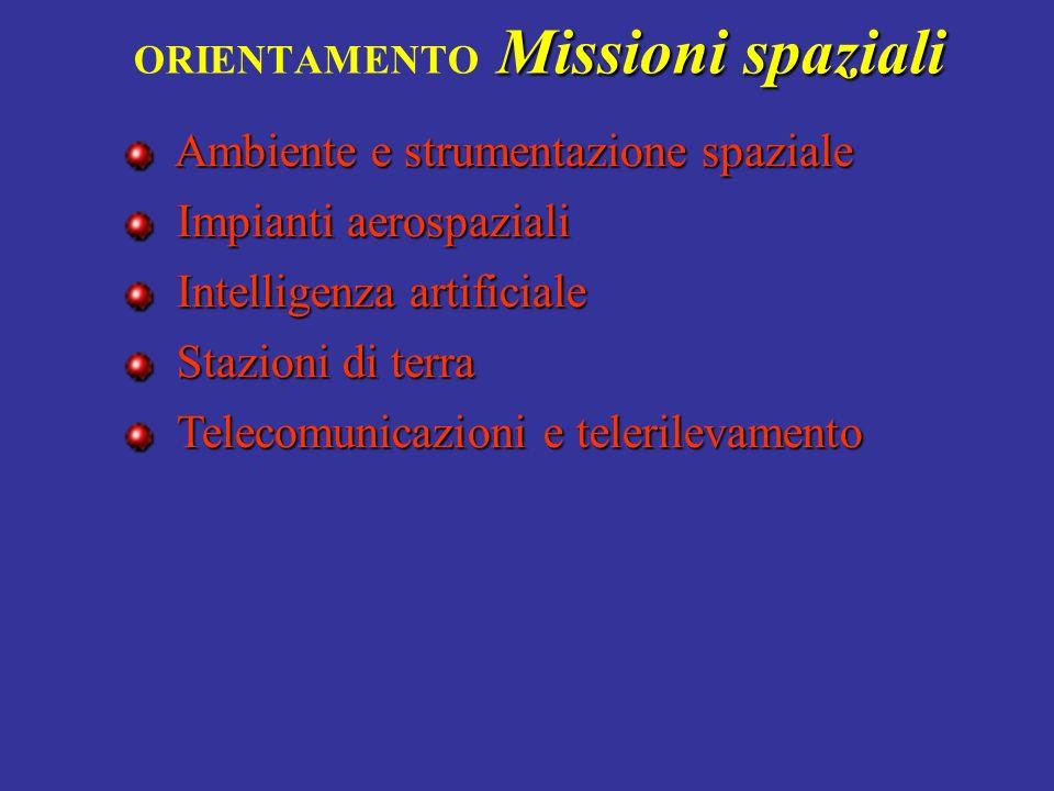ORIENTAMENTO Missioni spaziali