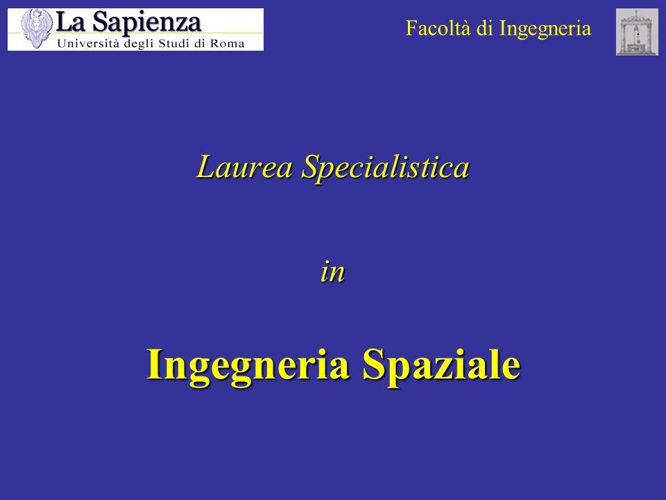Laurea Specialistica in Ingegneria Spaziale