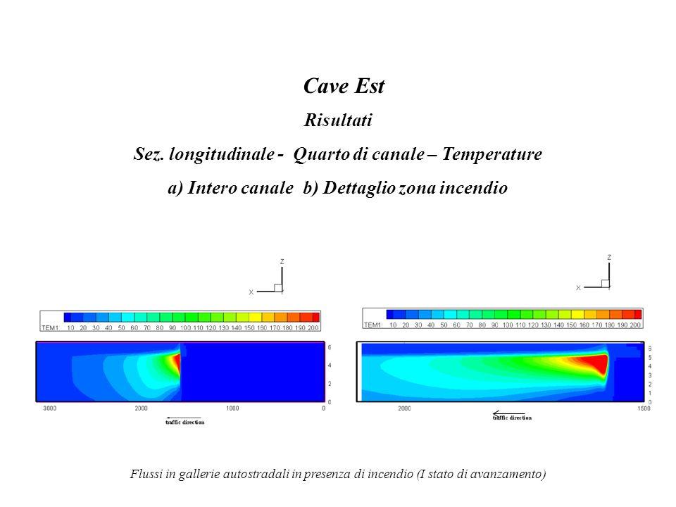 Cave Est Risultati Sez. longitudinale - Quarto di canale – Temperature