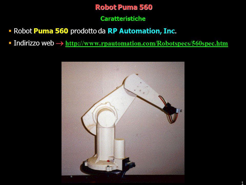 Robot Puma 560 prodotto da RP Automation, Inc.