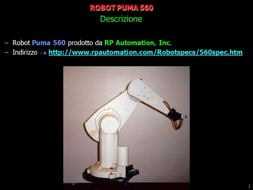 ROBOT PUMA 560 Descrizione