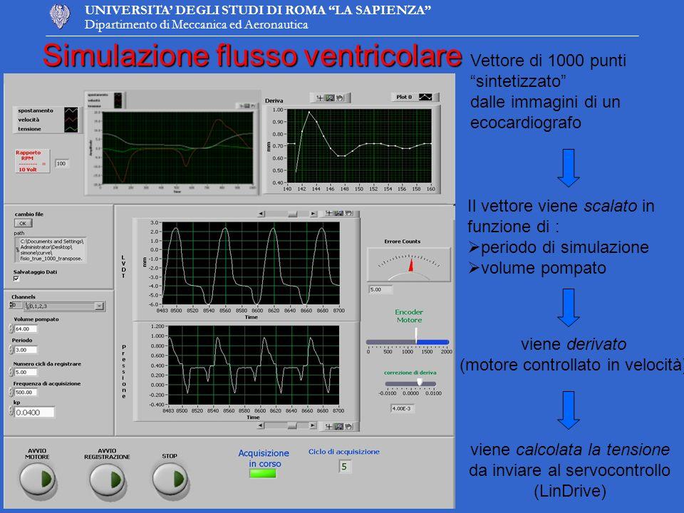 Simulazione flusso ventricolare