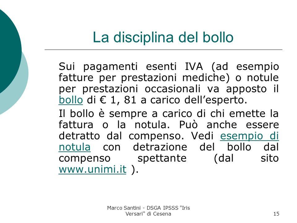 La disciplina del bollo