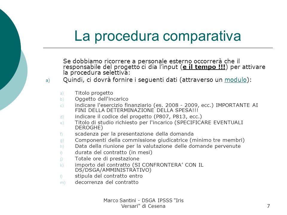 La procedura comparativa