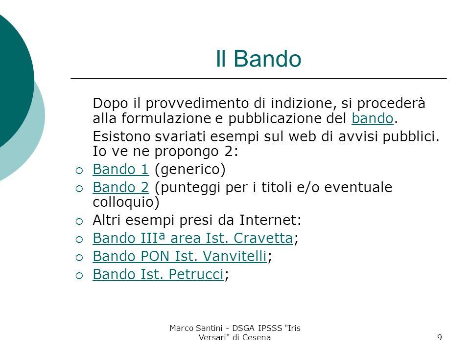 Marco Santini - DSGA IPSSS Iris Versari di Cesena