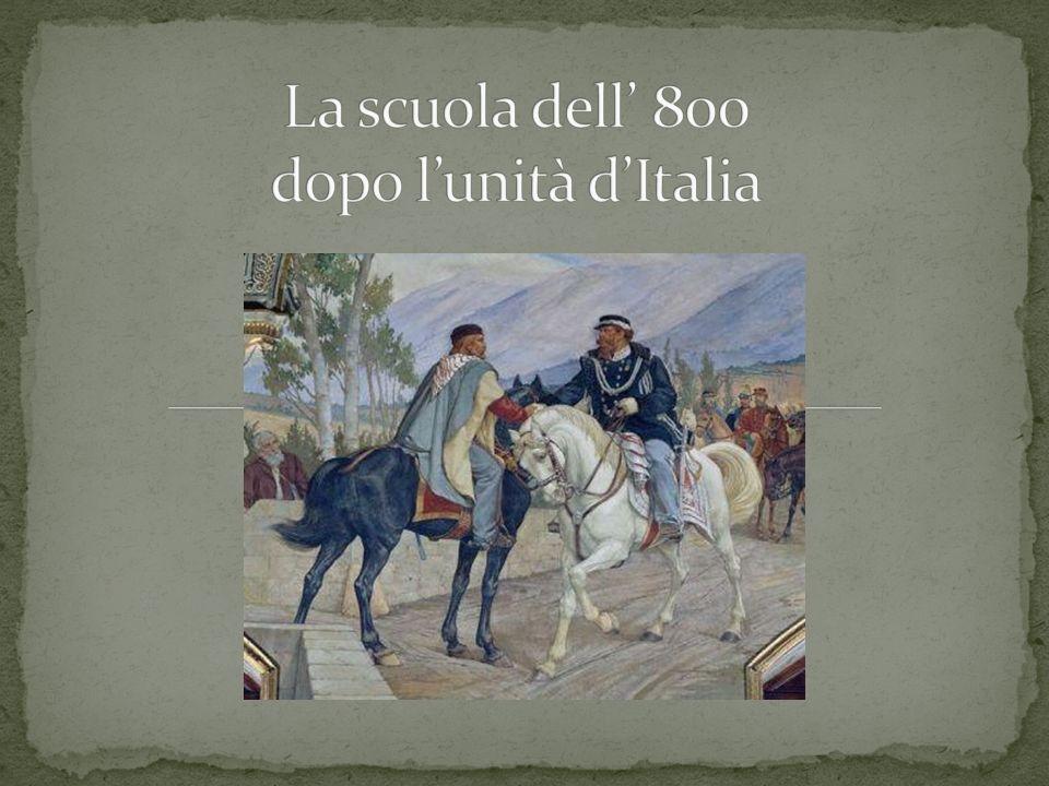 La scuola dell' 800 dopo l'unità d'Italia