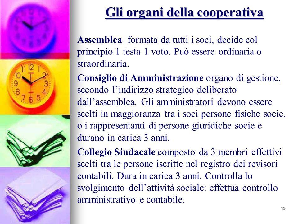 Gli organi della cooperativa