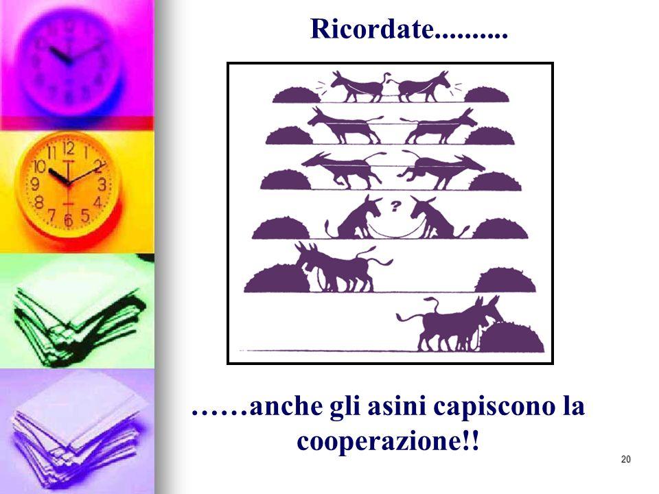 ……anche gli asini capiscono la cooperazione!!