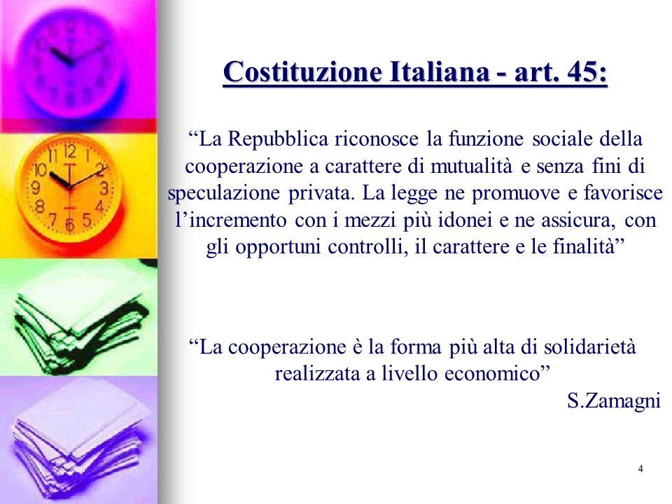 Costituzione Italiana - art. 45:
