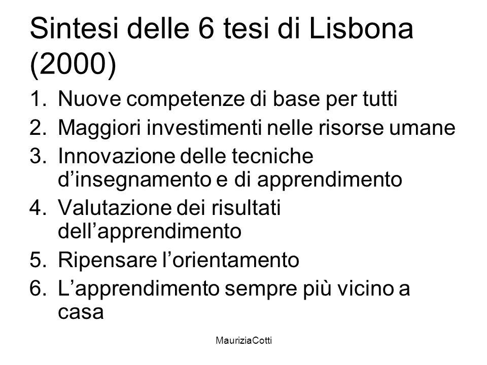 Sintesi delle 6 tesi di Lisbona (2000)