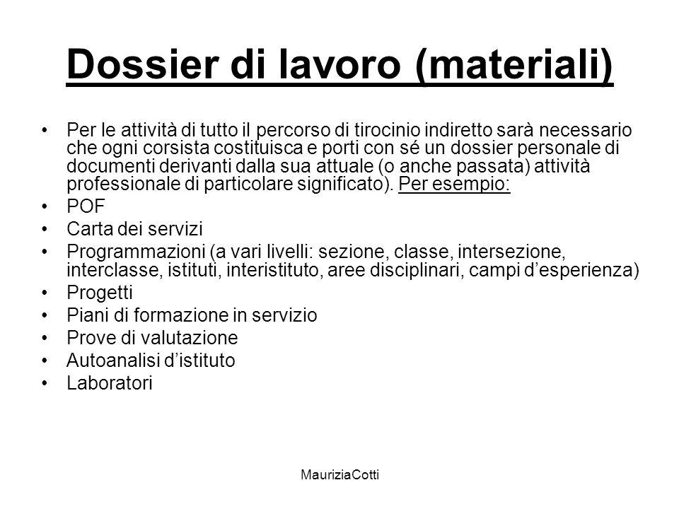 Dossier di lavoro (materiali)