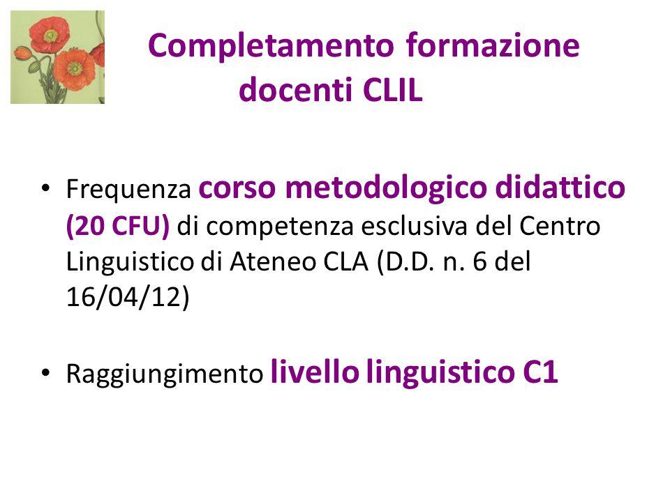 Completamento formazione docenti CLIL