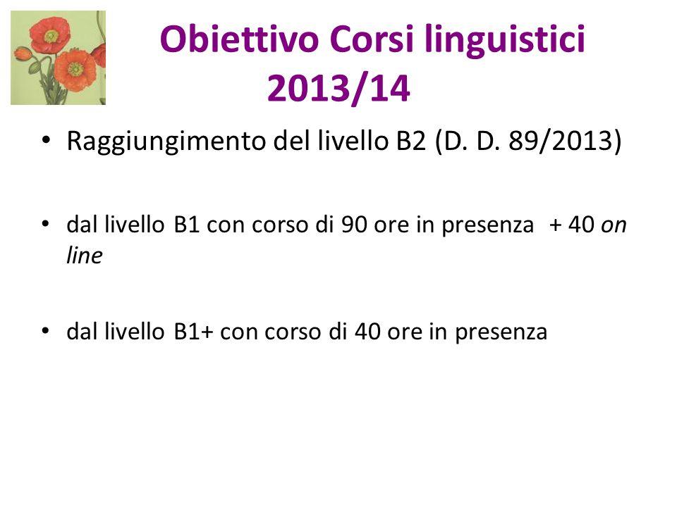 Obiettivo Corsi linguistici 2013/14