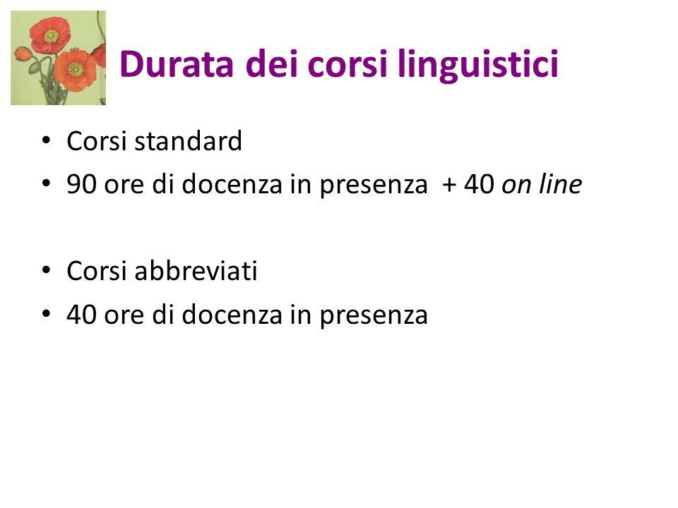 Durata dei corsi linguistici