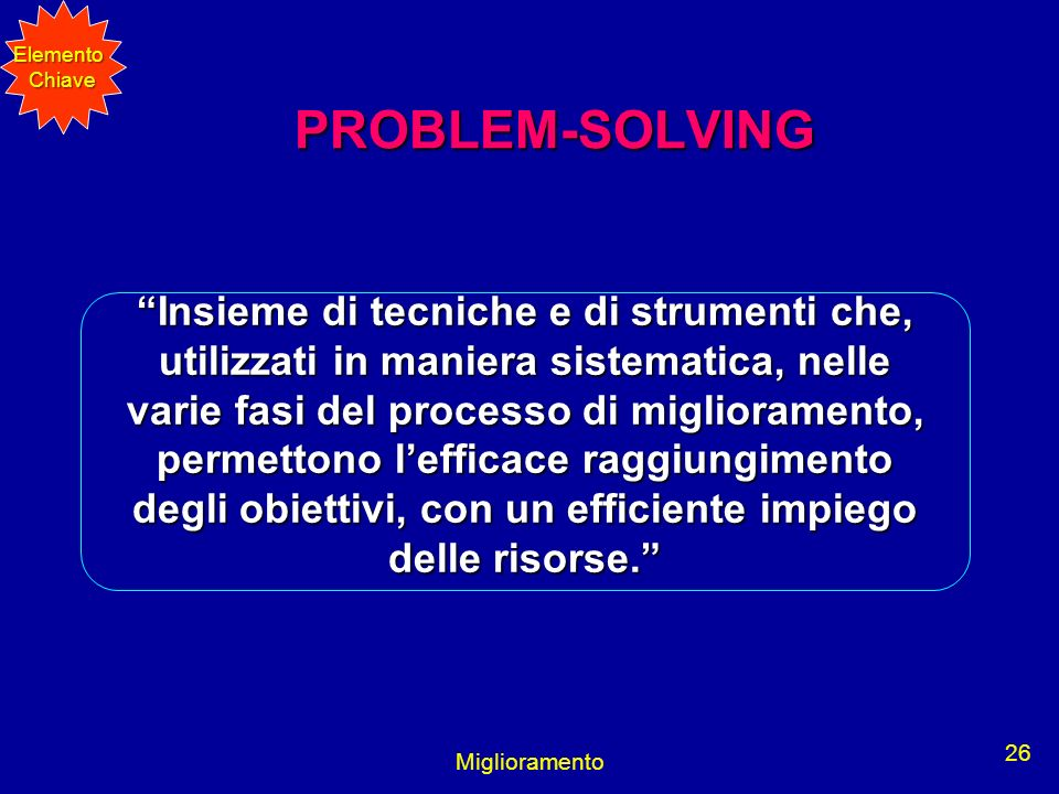 Elemento Chiave. PROBLEM-SOLVING.