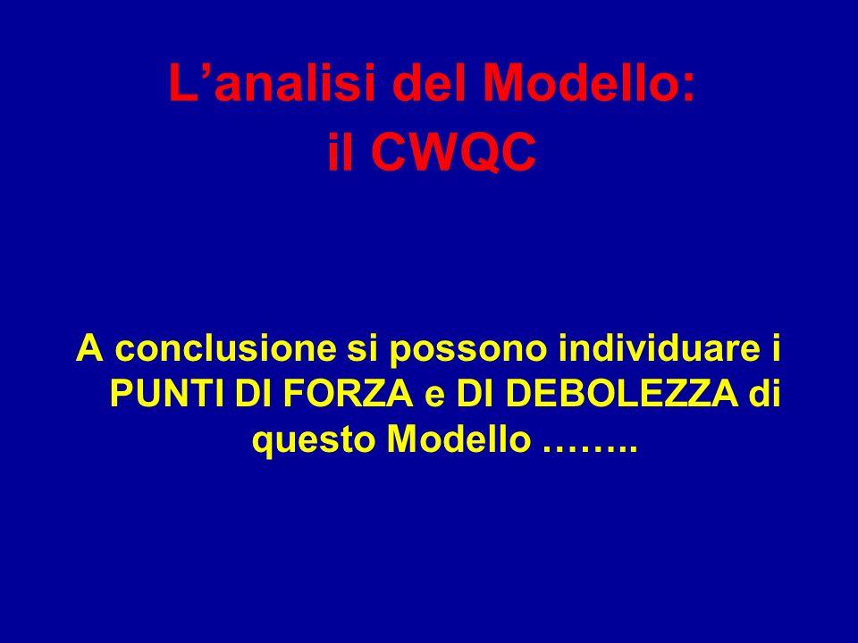 L'analisi del Modello: il CWQC