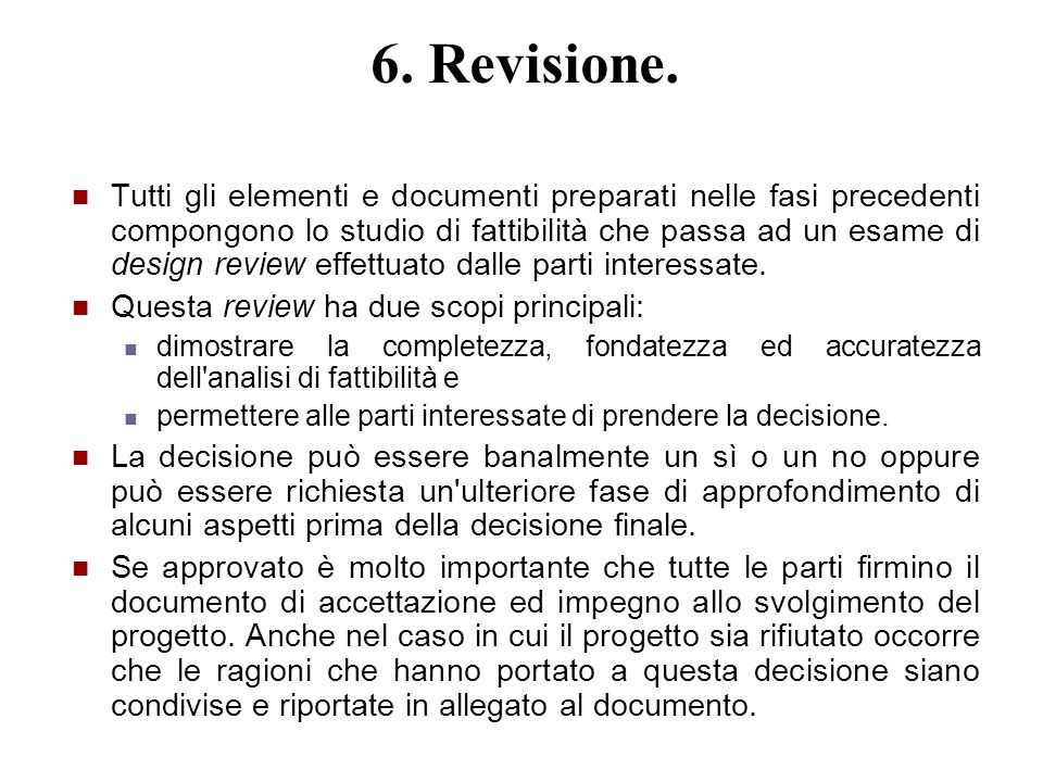 6. Revisione.