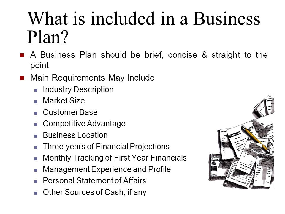 What is included in a Business Plan