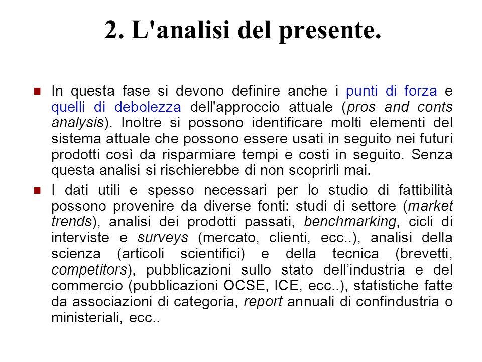 2. L analisi del presente.