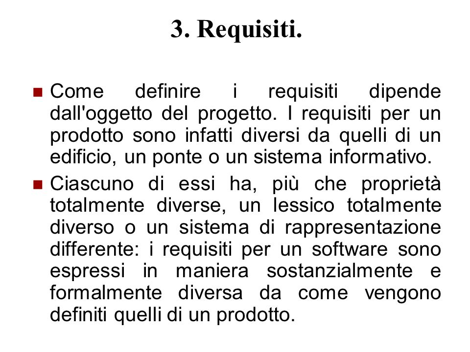 3. Requisiti.