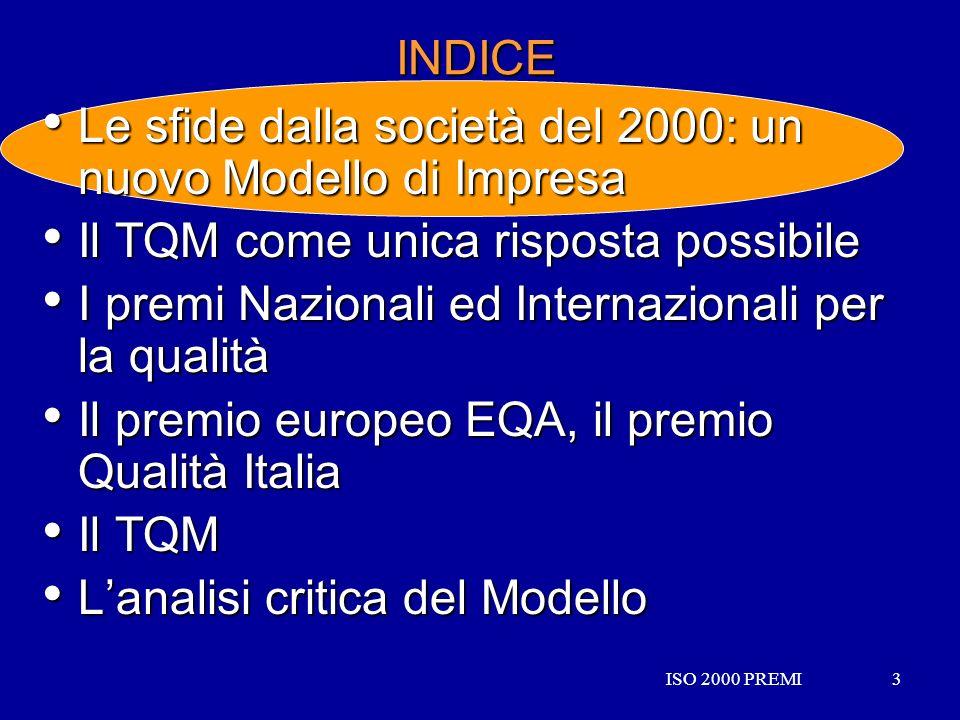 Le sfide dalla società del 2000: un nuovo Modello di Impresa