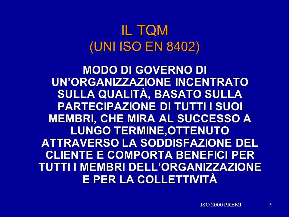 IL TQM (UNI ISO EN 8402)