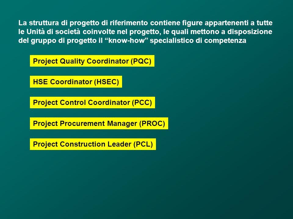 La struttura di progetto di riferimento contiene figure appartenenti a tutte le Unità di società coinvolte nel progetto, le quali mettono a disposizione del gruppo di progetto il know-how specialistico di competenza