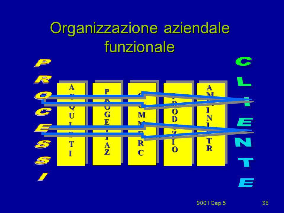Organizzazione aziendale funzionale