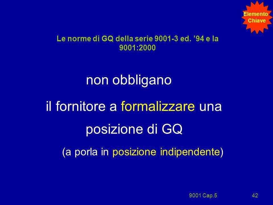 Le norme di GQ della serie 9001-3 ed. '94 e la 9001:2000