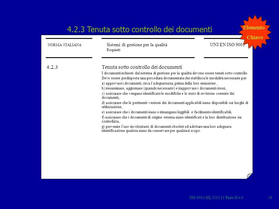 4.2.3 Tenuta sotto controllo dei documenti