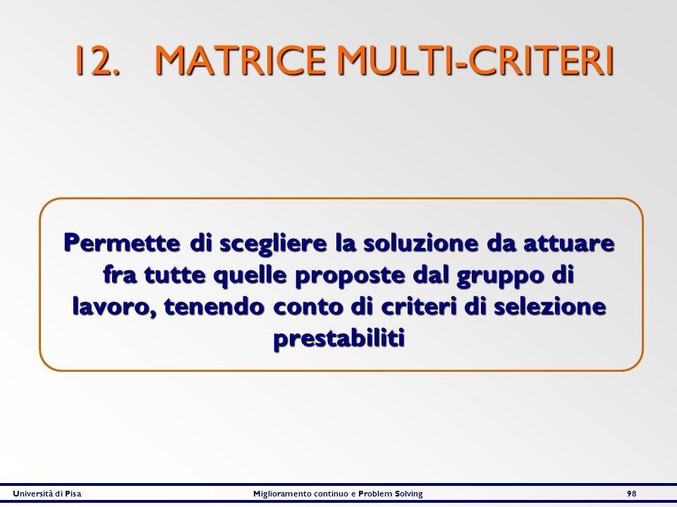 12. MATRICE MULTI-CRITERI