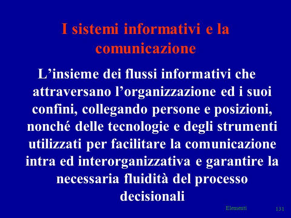 I sistemi informativi e la comunicazione