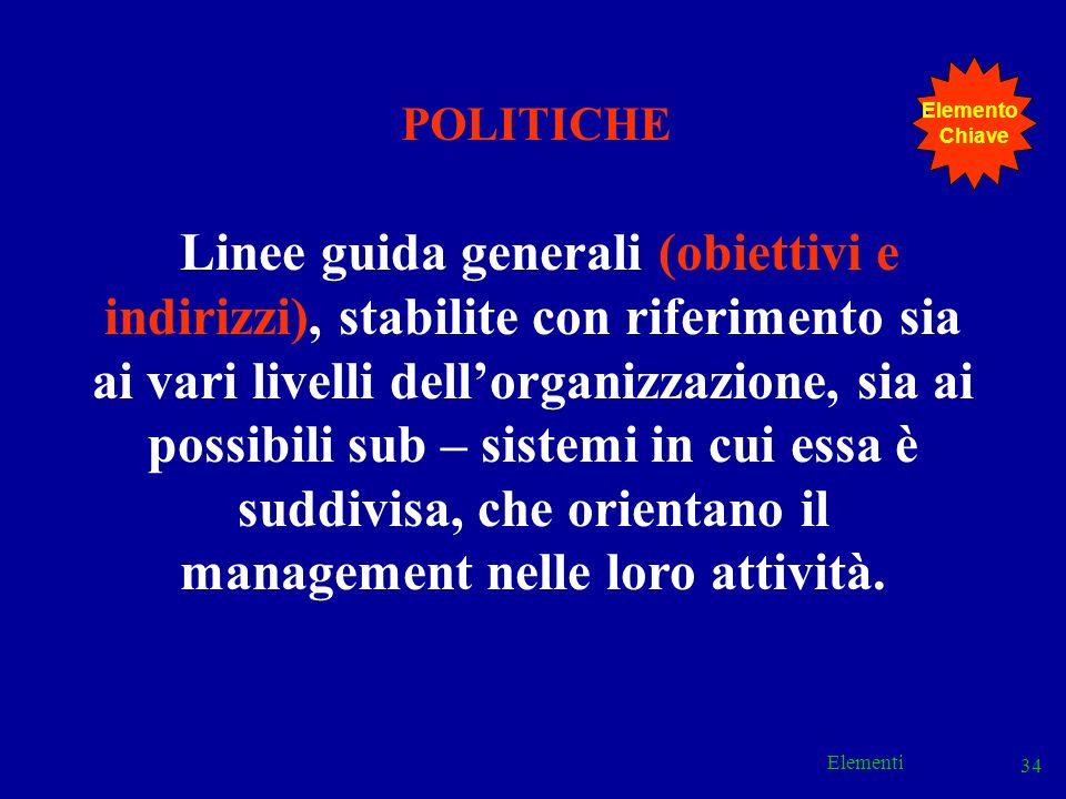 Elemento Chiave. POLITICHE.
