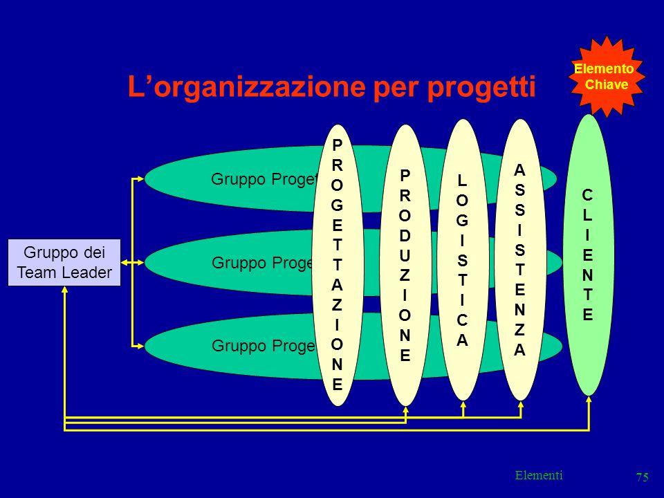 L'organizzazione per progetti