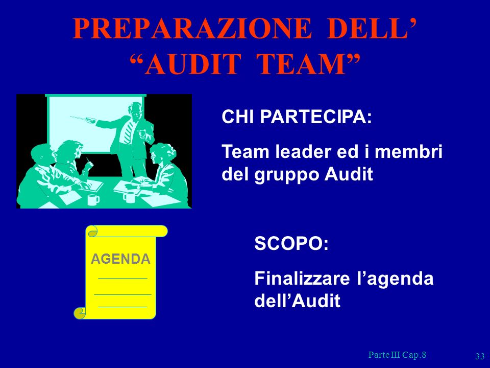 PREPARAZIONE DELL' AUDIT TEAM
