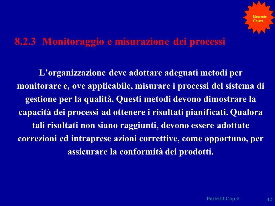 8.2.3 Monitoraggio e misurazione dei processi