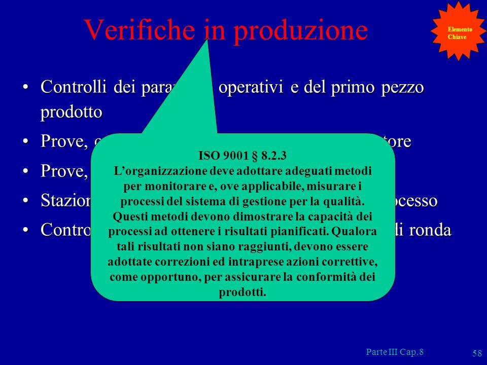 Verifiche in produzione