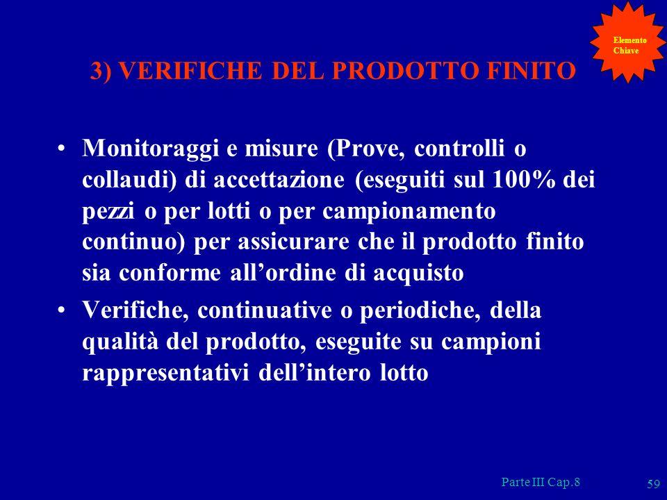 3) VERIFICHE DEL PRODOTTO FINITO