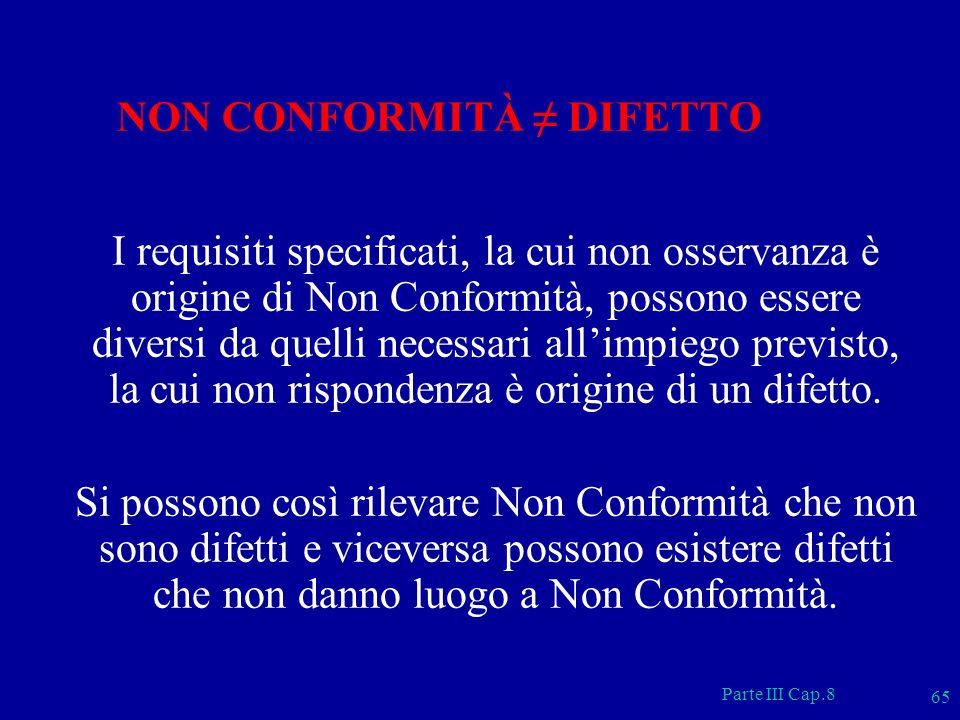 NON CONFORMITÀ ≠ DIFETTO