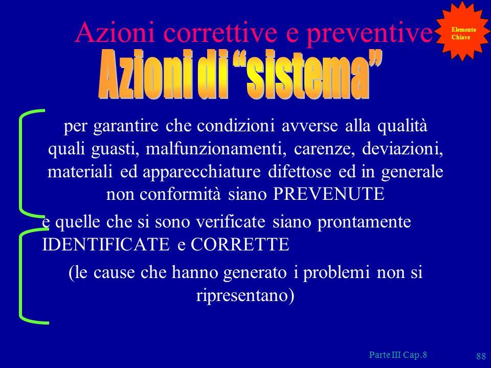 Azioni correttive e preventive