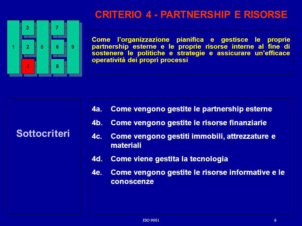 CRITERIO 4 - PARTNERSHIP E RISORSE