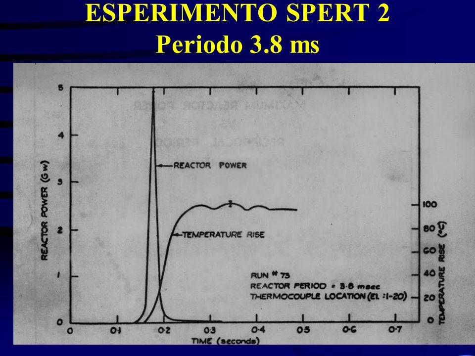 ESPERIMENTO SPERT 2 Periodo 3.8 ms