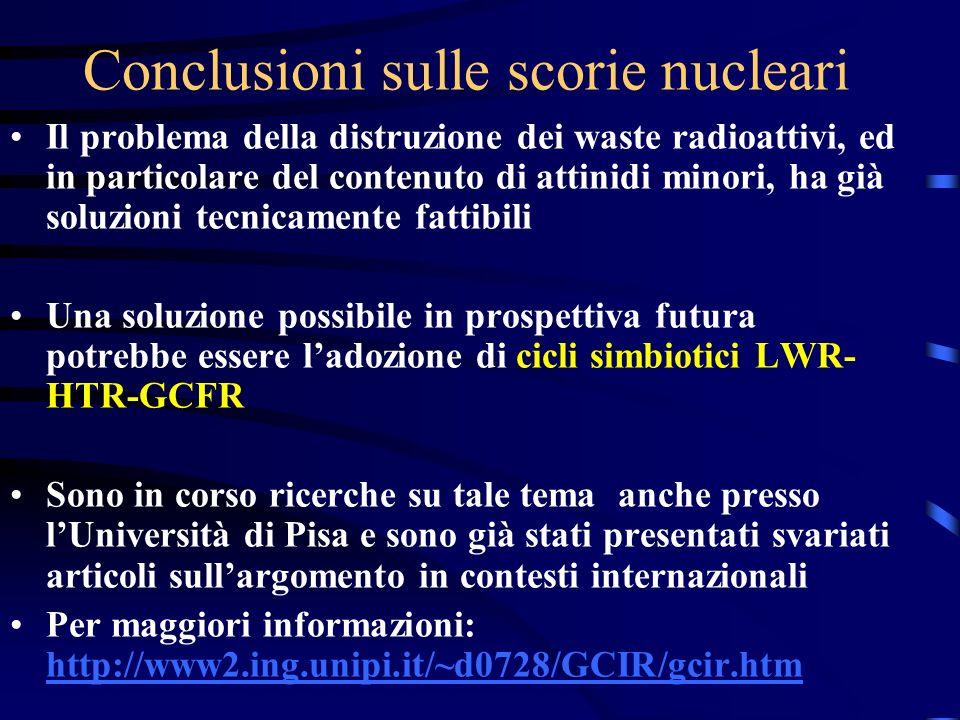 Conclusioni sulle scorie nucleari
