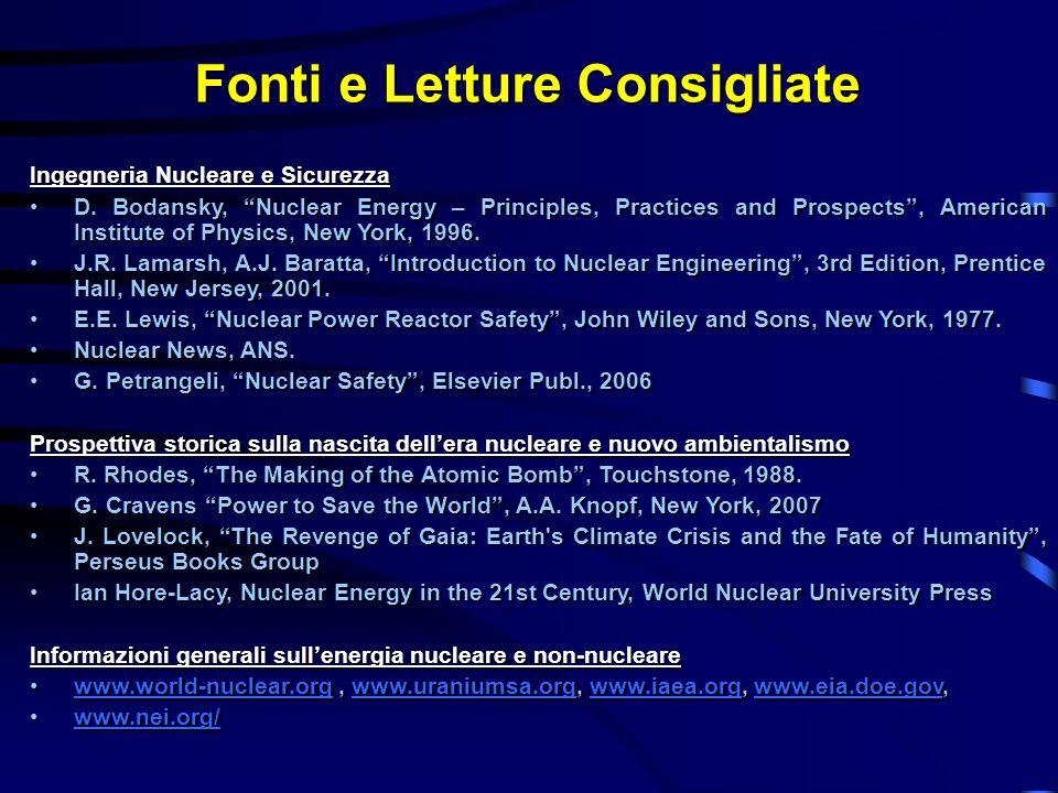 Fonti e Letture Consigliate