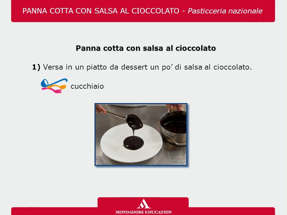 Panna cotta con salsa al cioccolato