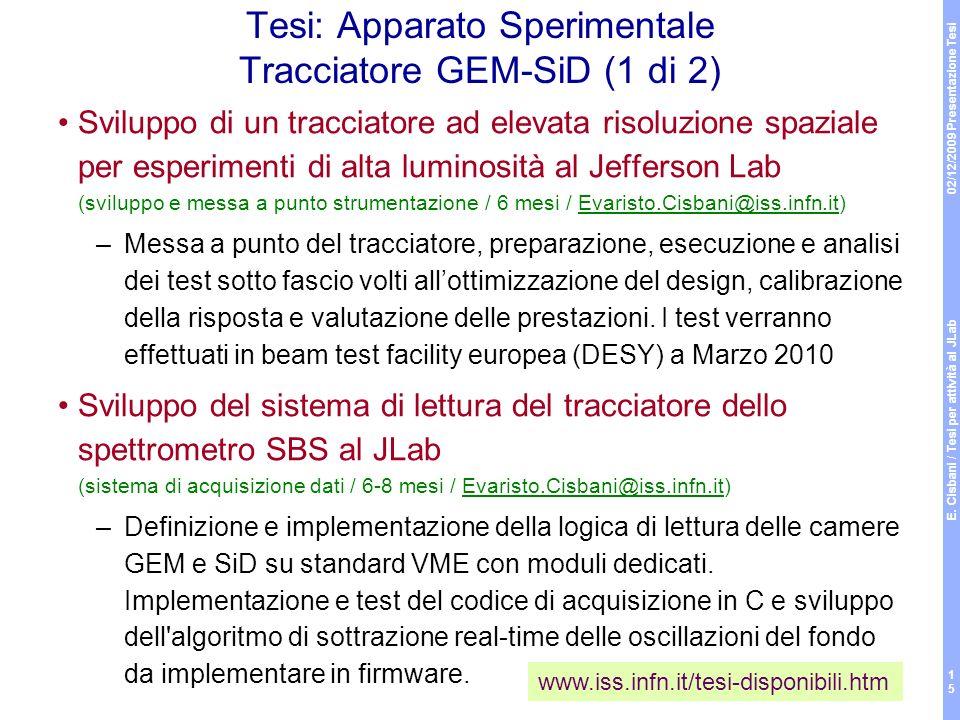 Tesi: Apparato Sperimentale Tracciatore GEM-SiD (1 di 2)